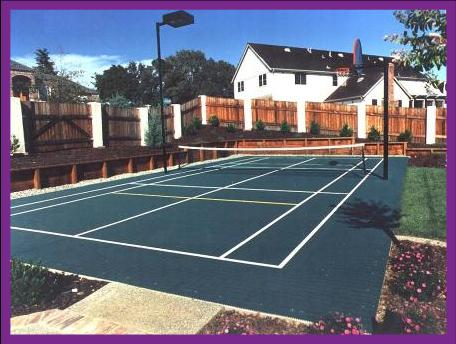 Backyard Tennis Court tennis court builders in pa, nj and de and we are suppliers of