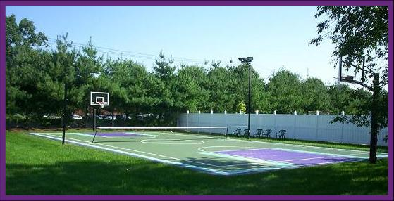 Backyard Tennis Court backyard home basketball court and tennis court construction in pa
